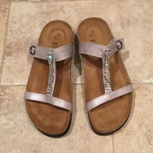 Naot  leather rhinestone sandals, size 42